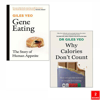 £21.99 • Buy Dr Giles Yeo 2 Books Collection Set Why Calories Don't Count, Gene Eating NEW