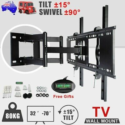 AU45.99 • Buy Heavy Duty Full Motion Swing Swivel Arm Wall Mount TV Bracket 32 - 70  Inch 80KG
