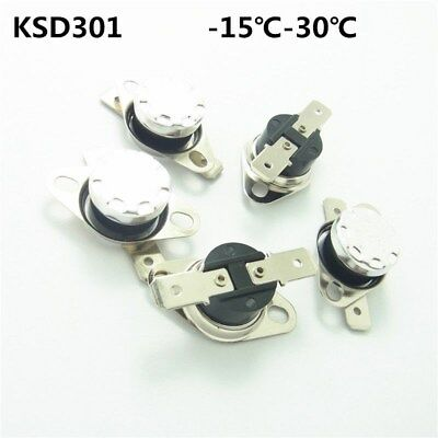 £1.81 • Buy -15-30°C Thermostat Temperature Thermal Switch Normally Open/Closed NO/NC KSD301