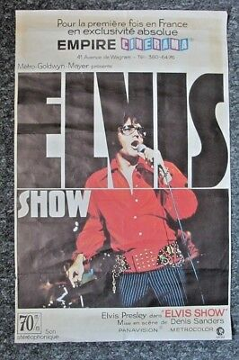 Elvis Presley - Thats The Way It Is - Original French 1970 Film Cinema Poster • 199£