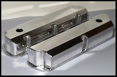 $73.95 • Buy Ford FE Fabricated Aluminum Tall Valve Covers BBF 352 390 428 S-6372-POL