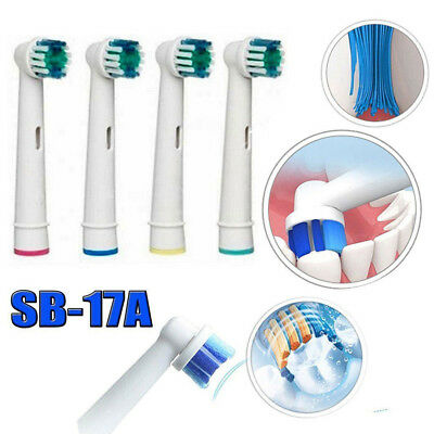 AU3.80 • Buy 8pcs B SB-17A Electric Toothbrush Heads Replacement Braun Oral Dual Clean Brush
