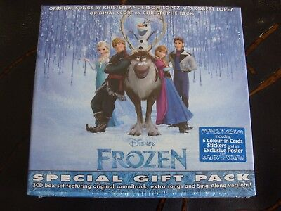 £14.99 • Buy CD Box Set: Frozen : Special Gift Pack : Sealed 3 CDs 5 Cards, Stickers & Poster