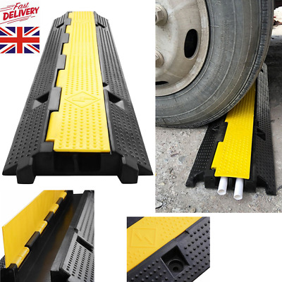 Rubber Floor Cable Wire Cover Tidy Protector Safety Trunk Ramp 1M • 19.07£