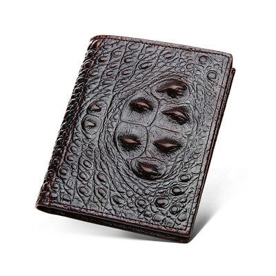 $11.99 • Buy Mens Leather Dragon Luxury Quality Wallet Credit Card Holder Purse Brown Vintage