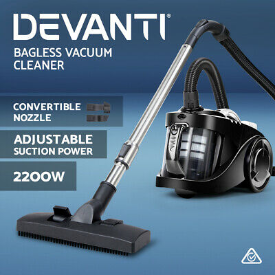 AU89.90 • Buy Devanti Bagless Vacuum Cleaner 2200W Cyclone Cyclonic Car Cleaners Home Black