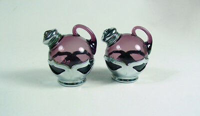 $15 • Buy Cambridge Glass-Farber Bros-Amethyst & Chrome Handled Ball Shakers - Nice!
