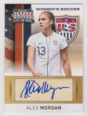 04c65f48897 2012 Americana US Women's Soccer Autograph #2 Alex Morgan RC/159 • 80.00$