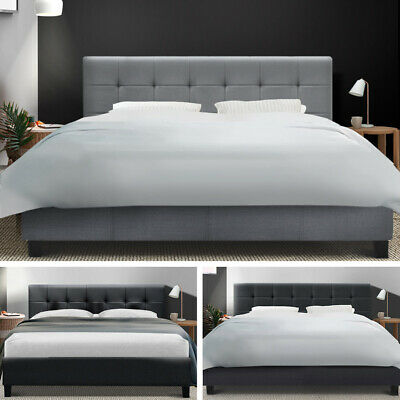AU86.95 • Buy Bed Frame Queen Double King Single Full Size Mattress Base Fabric Wooden SOHO