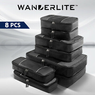 AU22.95 • Buy Wanderlite Luggage Organiser 8PCS Suitcase Sets Travel Packing Cubes Pouch Bag