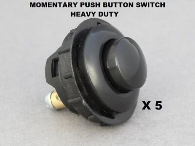 £13.95 • Buy 5 X Momentary Button Switch Heavy Duty Push ON 16A-12V Vandal Proof  26mm Hole