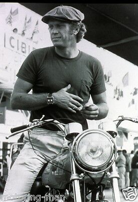 Steve Mcqueen Norton Motorcycle Tag Heuer Monaco Watch Le Mans 24 Photograph • 6.99£