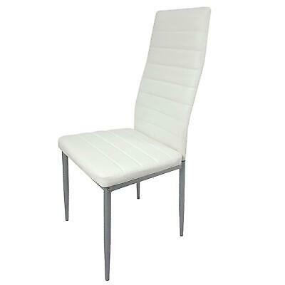 $184.99 • Buy 5PC Dining Set Tempered Glass Top Table & 4 Chairs Kitchen Furniture White