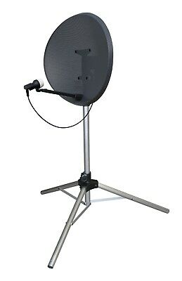 Satellite TV Dish Tripod Mount Stand Camping Caravan Sky Freeview + Pegs • 21.99£