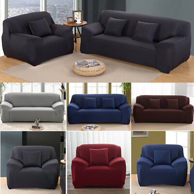AU23.99 • Buy EASY Stretch Couch Sofa Lounge Covers Recliner 1 2 3 4 Seater Dining Chair Cover