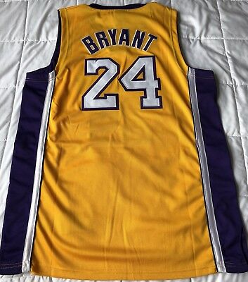 38f524f13 Kobe Bryant Authentic NBA Los Angeles Lakers Adidas Jersey Size 52 • 54.99