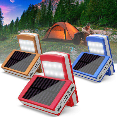 AU11.59 • Buy 300000mAh 20 LED Solar Portable Power Bank Dual USB Battery Charger For Phone