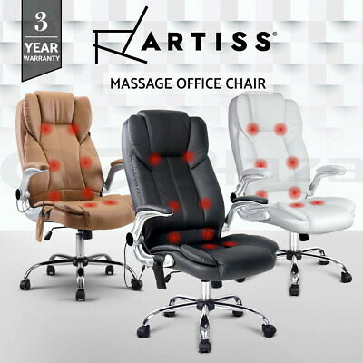AU159 • Buy Artiss Massage Office Chair 8 Point Computer Heated Chairs Gaming Chair