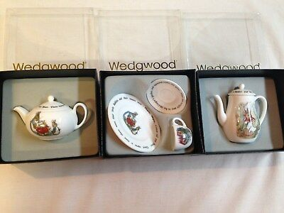 Mini Tea Set By Wedgewood.  Peter Rabbit . Complete Set Of 5 Pieces. • 101.16£