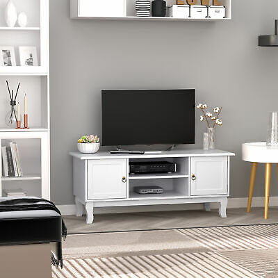 £94.99 • Buy TV Stand High Gloss Unit Corner Table Storage Display Shelves With Drawer White