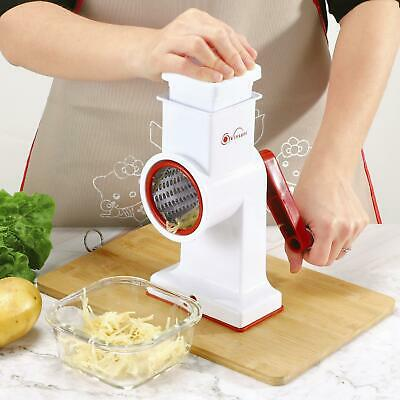 £11.99 • Buy Vinsani Spiralizers Hand Held White Drum Grater Includes 3 Better Grip&Stability