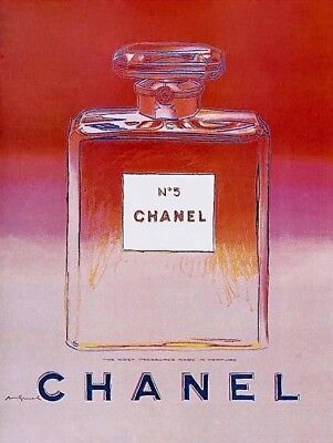 $2500 • Buy Chanel Red & Pink Offset Lithograph On Paper Mounted On Canvas Andy Warhol LARGE
