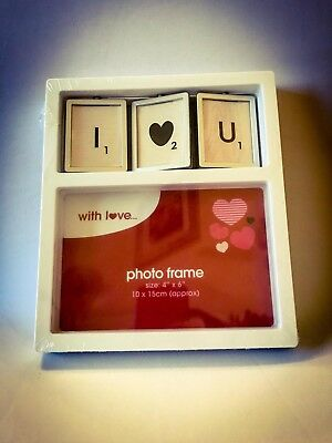 I Love You Photo Frame Spinning Letters 6 X 4  • 6.15£