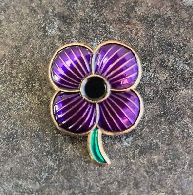 Purple Poppy Premium Enamel Pin Badge | Animals | New 2020 | Charity • 3.99£
