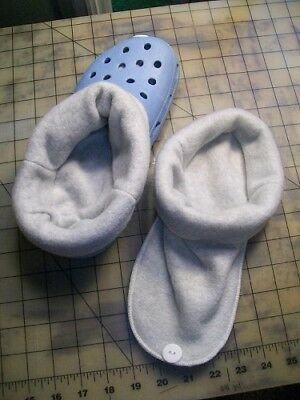 $10.50 • Buy Socks / Liners For Croc, Crocs Or Clogs Great For Winter ~ Light Grey ~