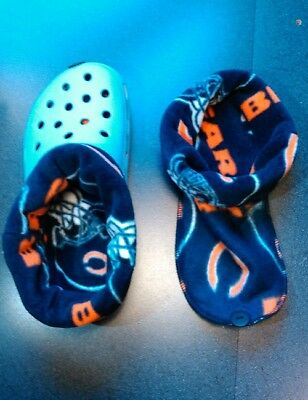 $10.50 • Buy Socks / Liners For Croc, Crocs Or Clogs Great For Winter -  Chicago Bears