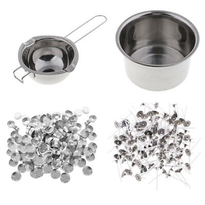 £19.50 • Buy Candle Wax Melting Pot Double Boiler With Candle Making Cups + Candle Wicks