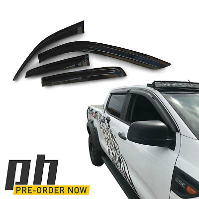 AU77 • Buy Weather Shield Window Visors SET Fits Ford Ranger PX MK1 MK2 MK3 Raptor Wildtrak
