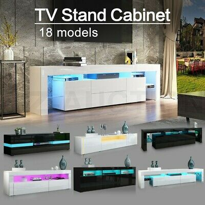 AU219.95 • Buy Modern TV Stand Cabinet Wood Entertainment Unit Storage White/Black W/RGB LED AU