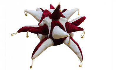 Maroon And White Jester Hat - Football Supporters Hearts Burnley • 7.99£