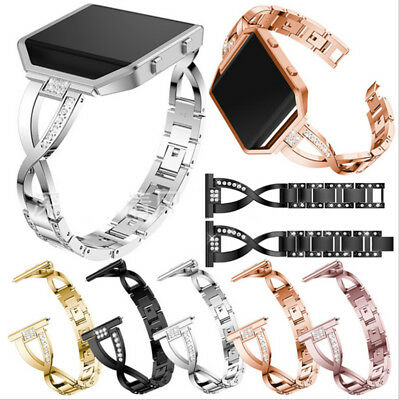 $ CDN19.34 • Buy Bling Alloy Metal Bracelet Wrist Band Strap+Frame For Fitbit Blaze Smart Watch