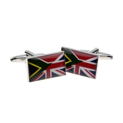 £5.99 • Buy High Quality Union Jack Mixed With South African Flag Cufflinks