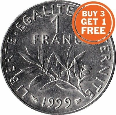 AU8.82 • Buy 1 Franc French 1959 To 2001 Choice Of Date