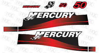 AU109.84 • Buy Mercury 50hp Outboard Motor Replacement Decal Kit