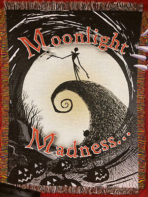Nightmare Before Christmas NBX Moonlight Madness Jack Tapestry Throw Blanket NEW • 15.85£