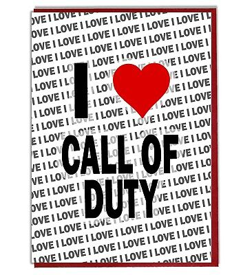£3.25 • Buy Greeting Card - Birthday Card - I Love Call Of Duty