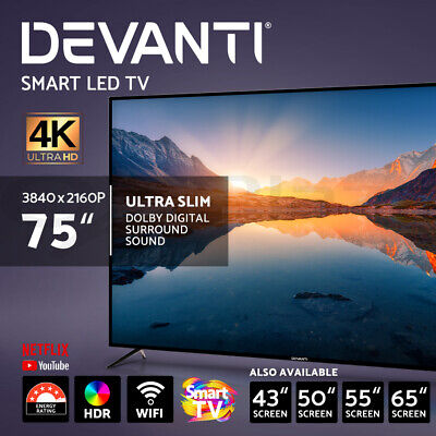 AU539.95 • Buy Devanti LED Smart TV LCD TV 55 Inch 65  55  43  50  4K UHD HDR Screen