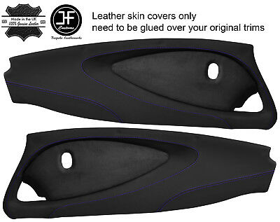 $ CDN349.31 • Buy Purple Stitch 2x Full Door Card Nappa & Suede Covers For Lotus Elise S2 Style 2