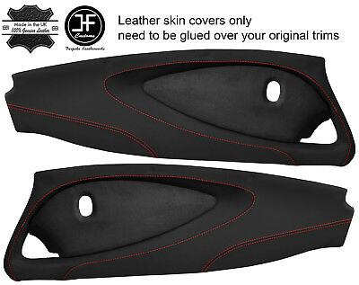 $ CDN298.89 • Buy Red Stitch 2x Full Door Card Nappa & Suede Covers For Lotus Elise S2 Style 2