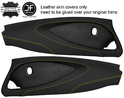 $ CDN349.31 • Buy Yellow Stitch 2x Full Door Card Nappa & Suede Covers For Lotus Elise S2 Style 2