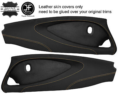 $ CDN349.31 • Buy Beige Stitch 2x Full Door Card Nappa & Suede Covers For Lotus Elise S2 Style 2