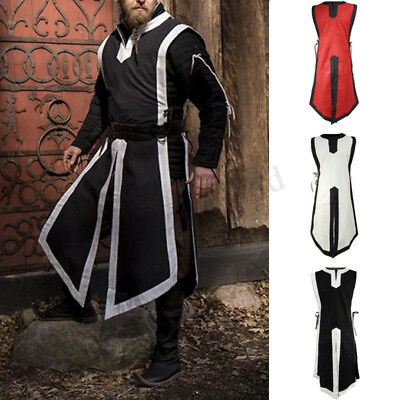 Medieval Vintage Mens Womens Tunic Top Shirt Viking Knight Cosplay Costume Party • 9.99£