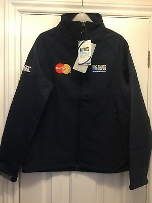 ENGLAND RUGBY-Quality Soft Shell Jacket-Full Zip-Navy-Embroidered-NEW- Small • 22£