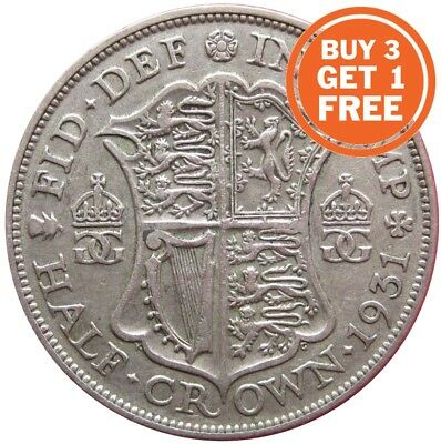 Silver Half Crown George V Coins Choice Of Year 1911 To 1936 • 5.99£