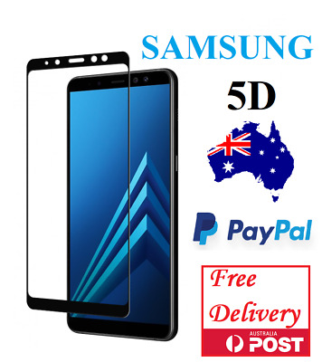 AU5.95 • Buy 5D Full Cover Screen Protector Tempered Glass For Samsung Galaxy J2 J5 J7 Pro A8