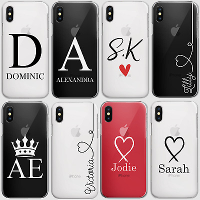 AU12.61 • Buy Personalised Initials Phone Case Clear Hard Cover For Oppo Nokia Oneplu6 6 T…..